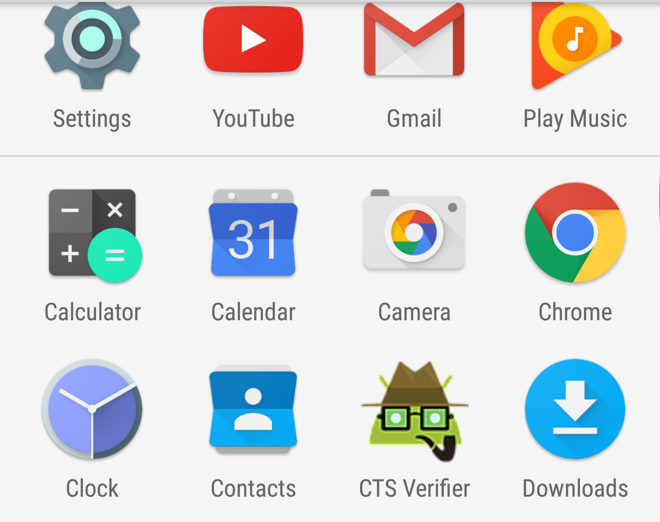 CTS Verifier icon in launcher
