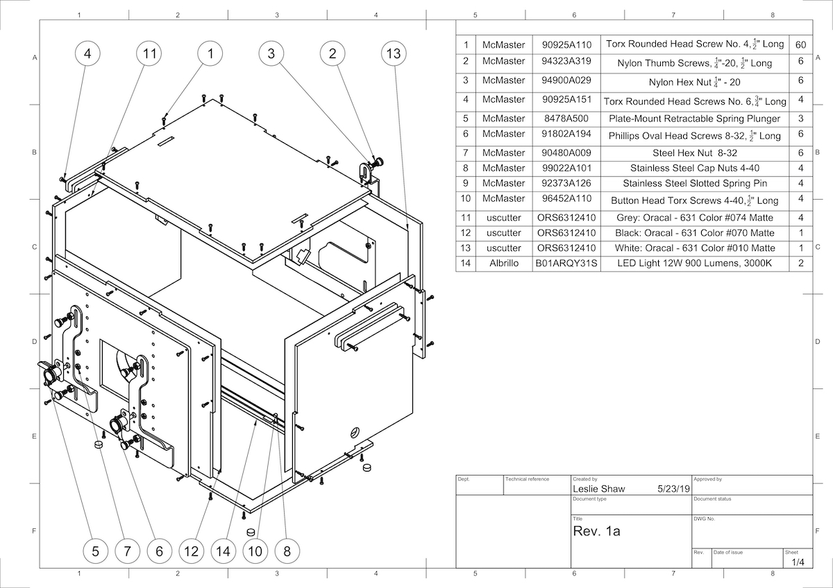 ITS-in-a-box mechanical drawing