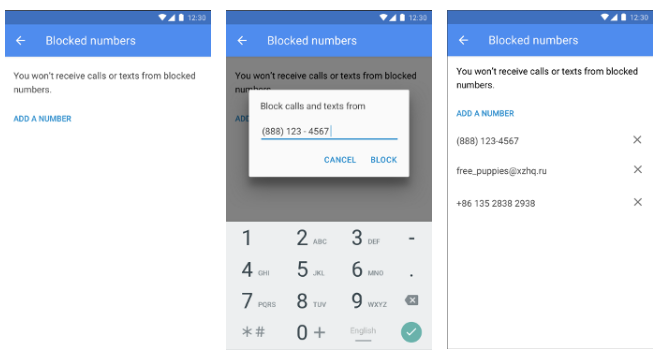 block numbers user interface
