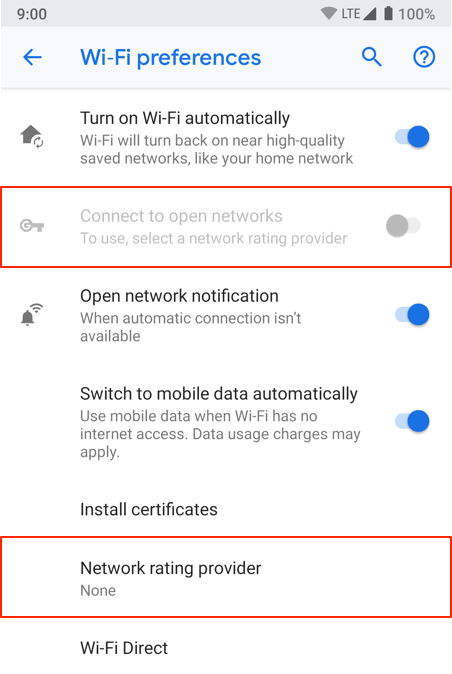 Connect to open networks