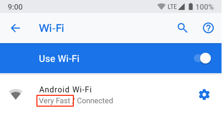Wi-Fi network quality